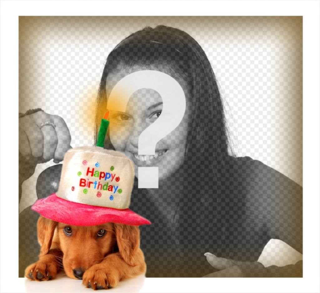 Congratulate with this birthday card with a puppy