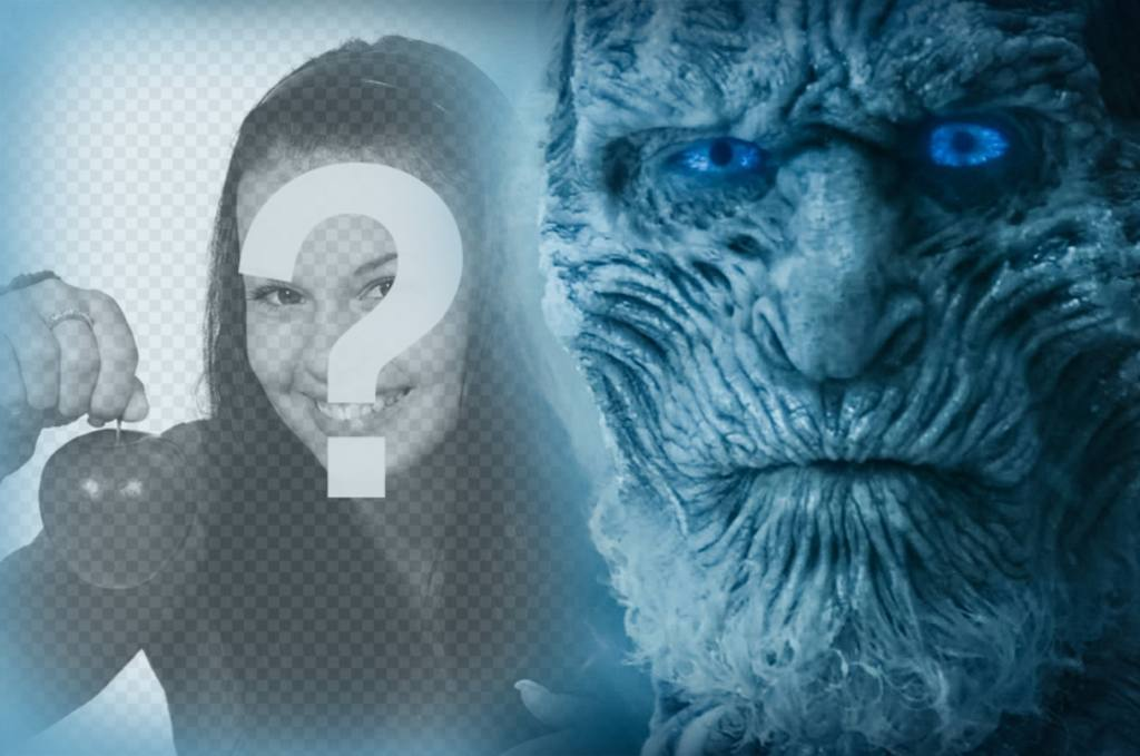 Effect with the White Walker from Game of Thrones