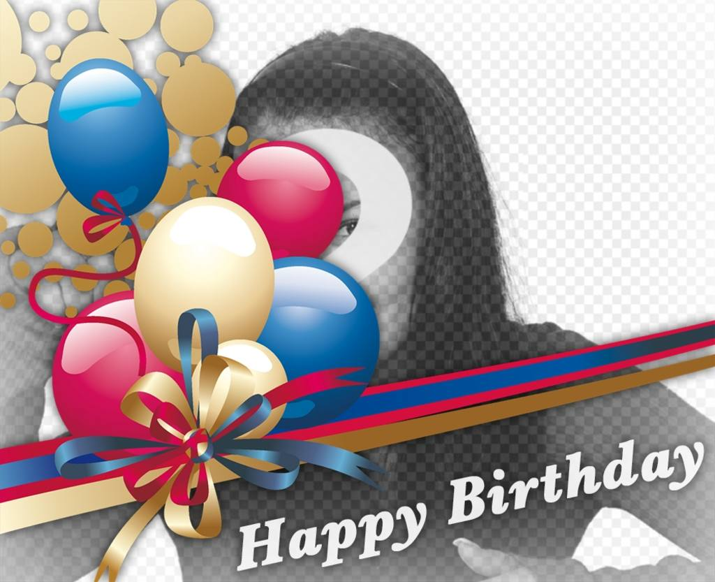 Add birthday balloons to your photos with this effect