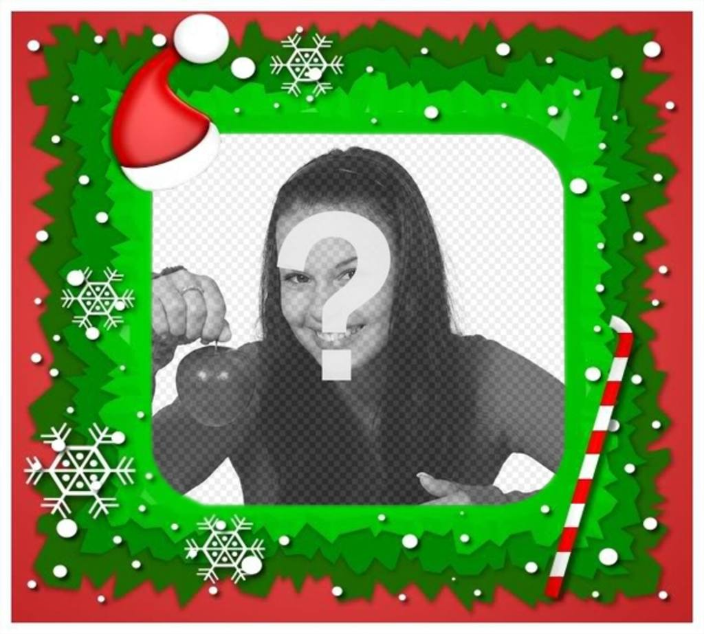 Christmas molding to your pictures with a Santa Claus hat