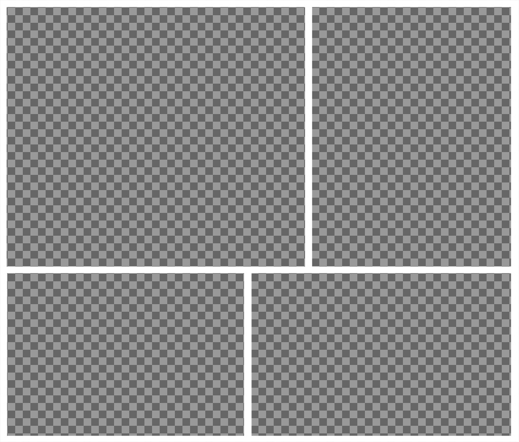 A collage where you can perfectly add 4 photos and for free