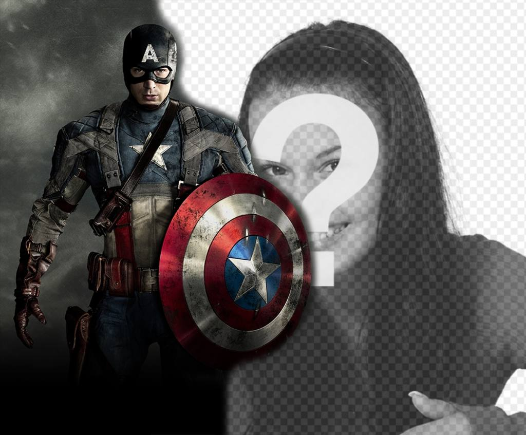 Upload your picture with the hero Captain America and for free