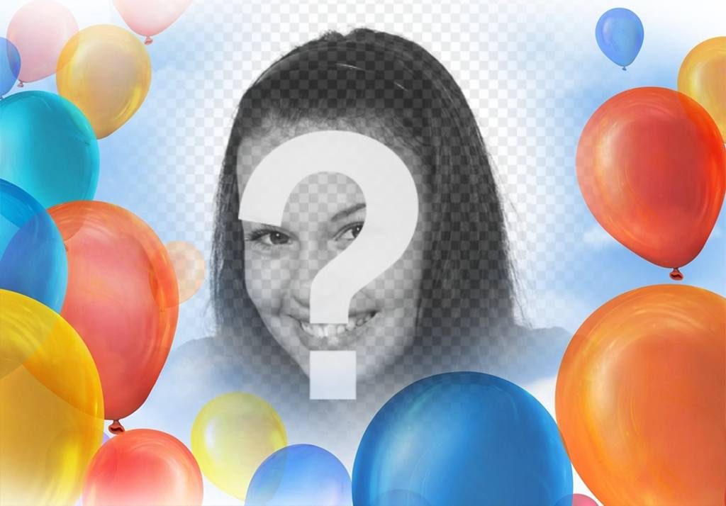 Photo effect with balloons to decorate your pictures for free
