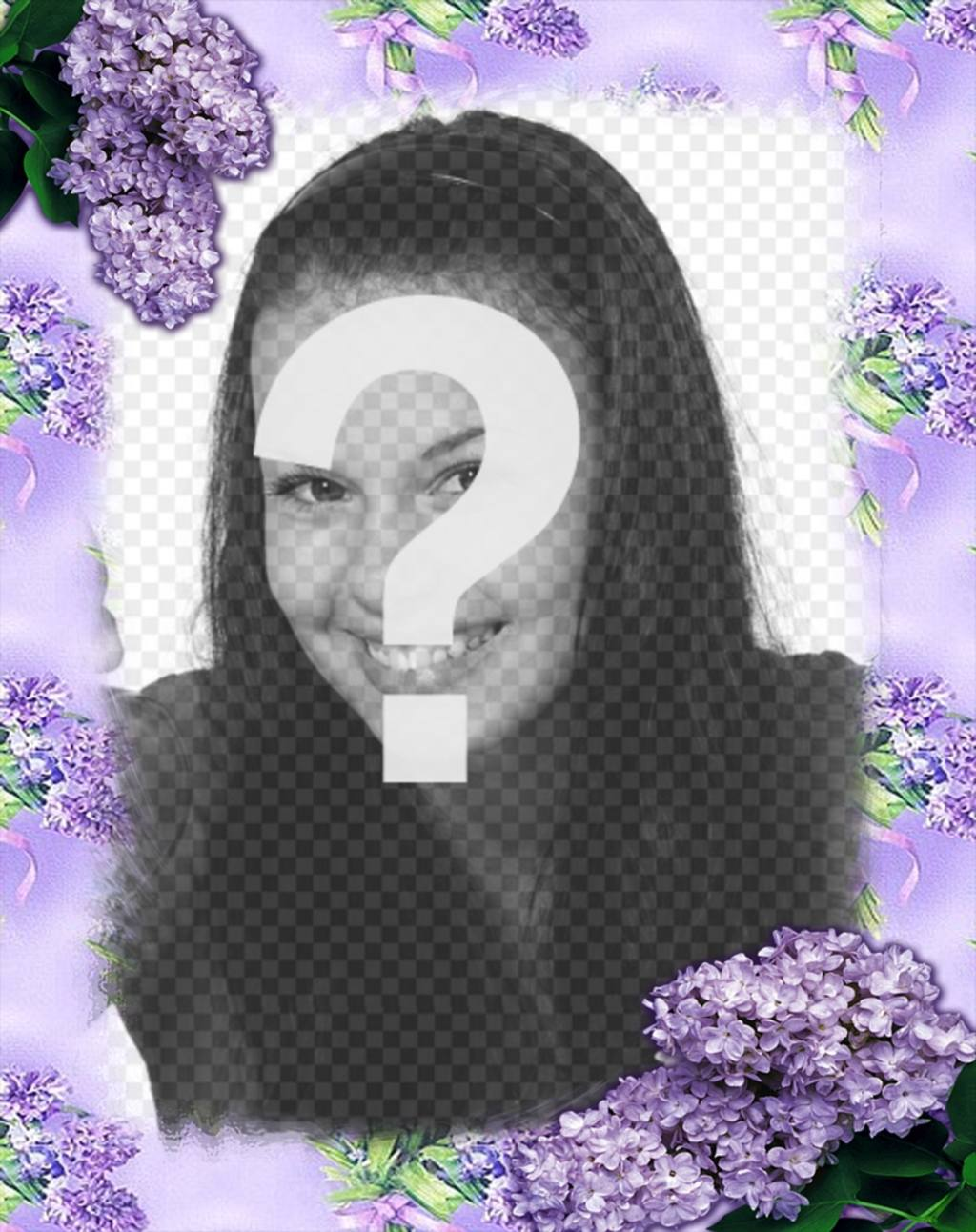 Violet flowers to decorate your photos with this online effect