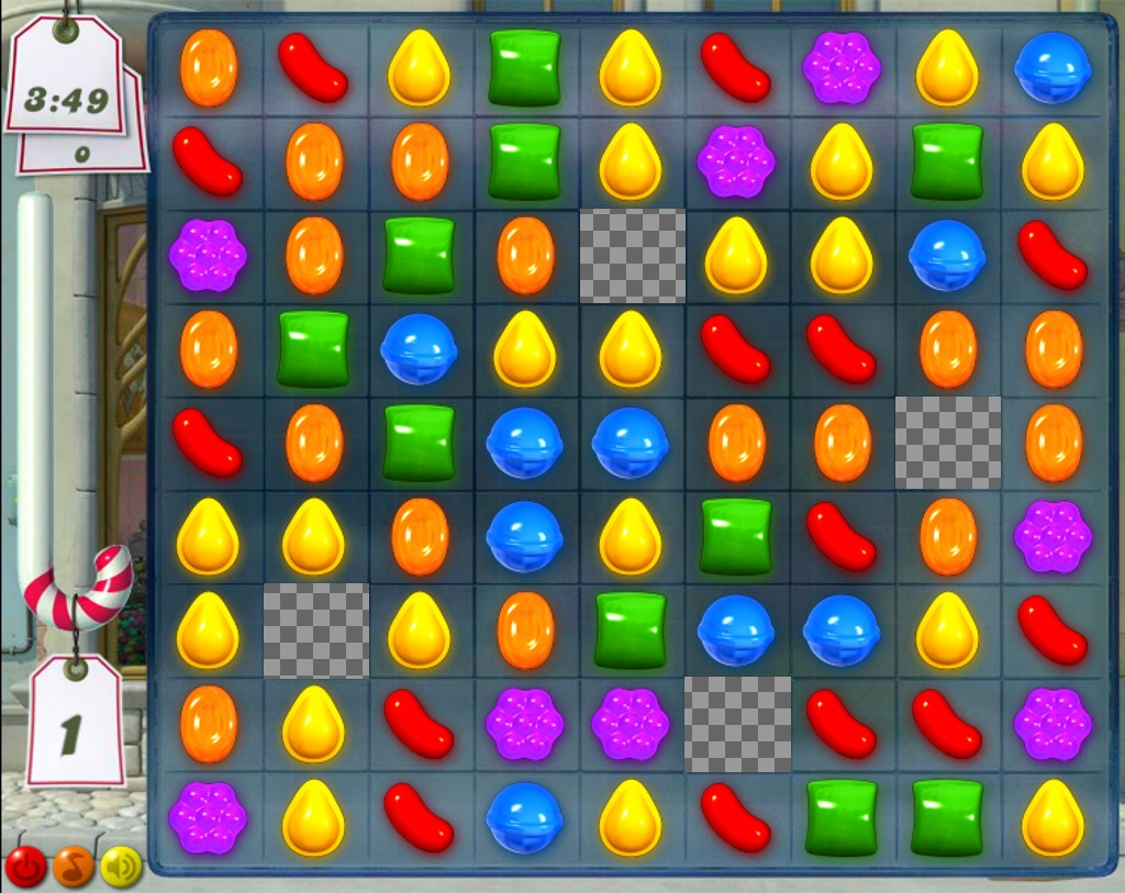 Funny collage to add four photos in the Candy Crush game