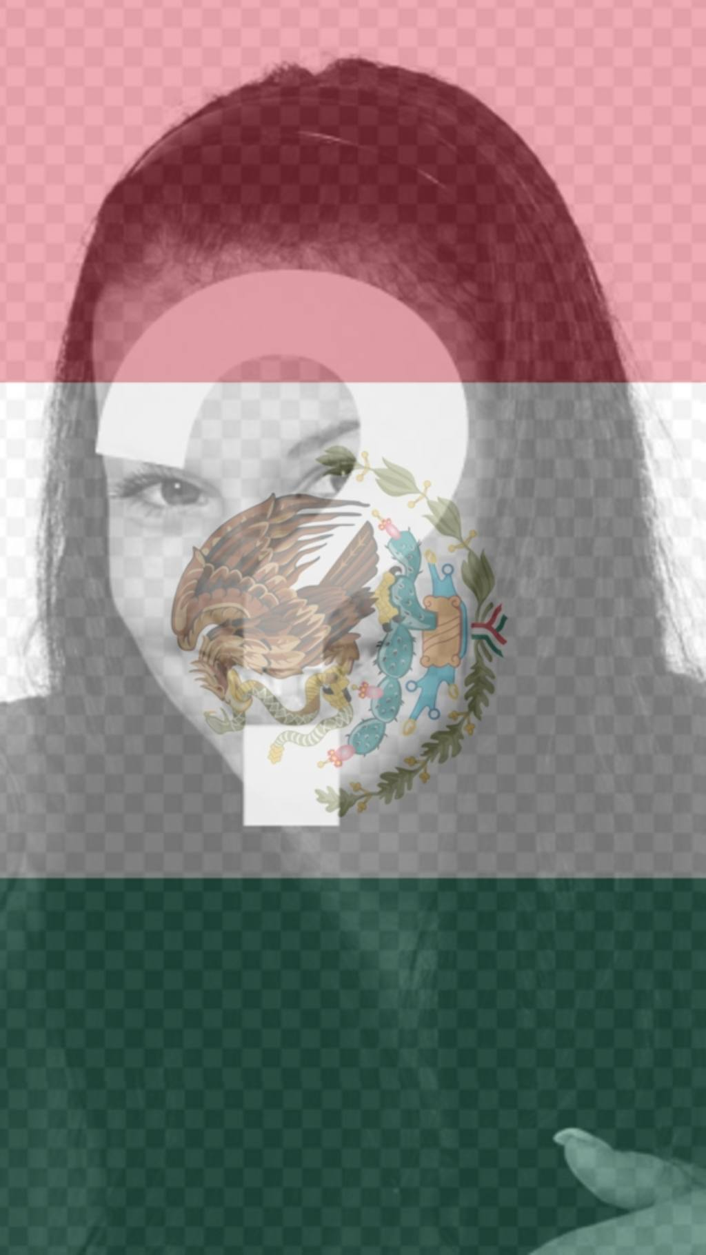 Background for your mobile phone with the flag of Mexico as a filter with your photo