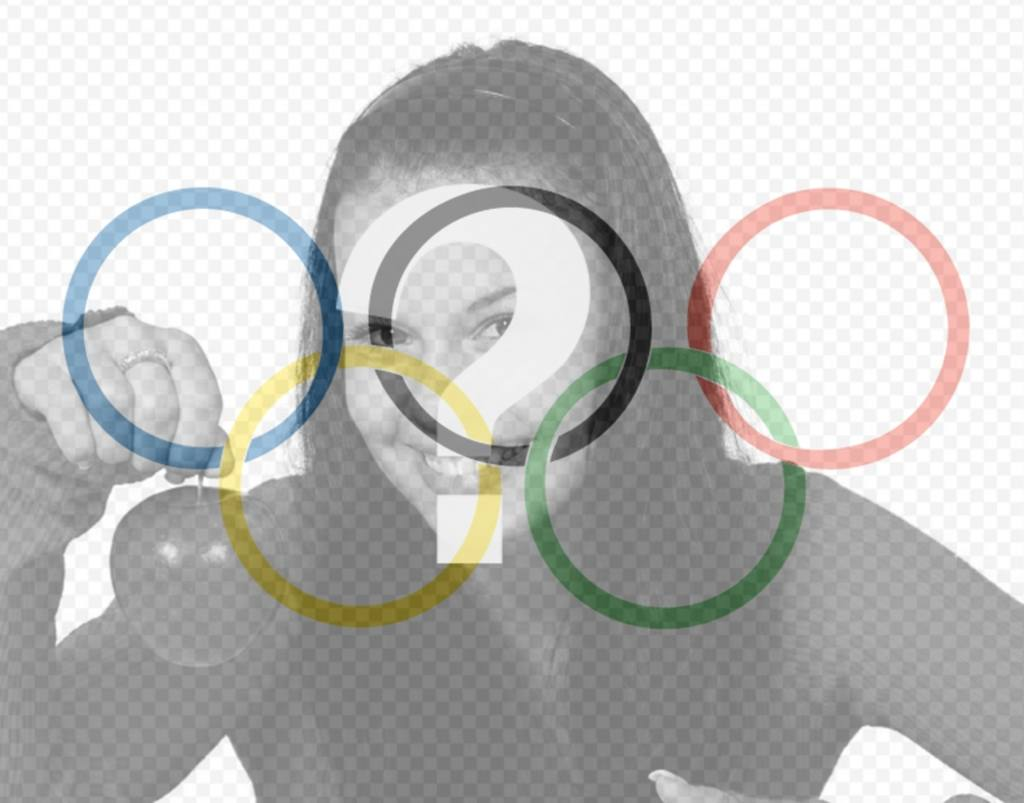 Flag with the symbol of the Olympics as a filter to put in your photo