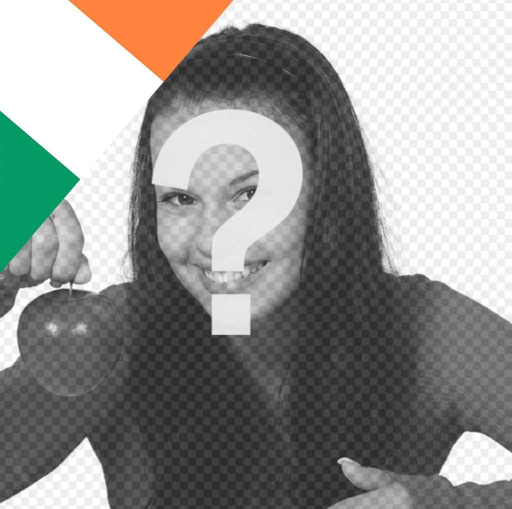 Effect to put the flag of Ireland on your photos and decorate it