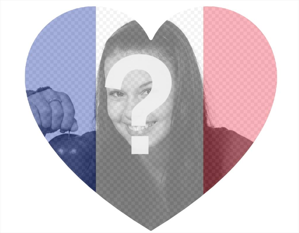 France heart-shaped flag to add to your photo as a filter