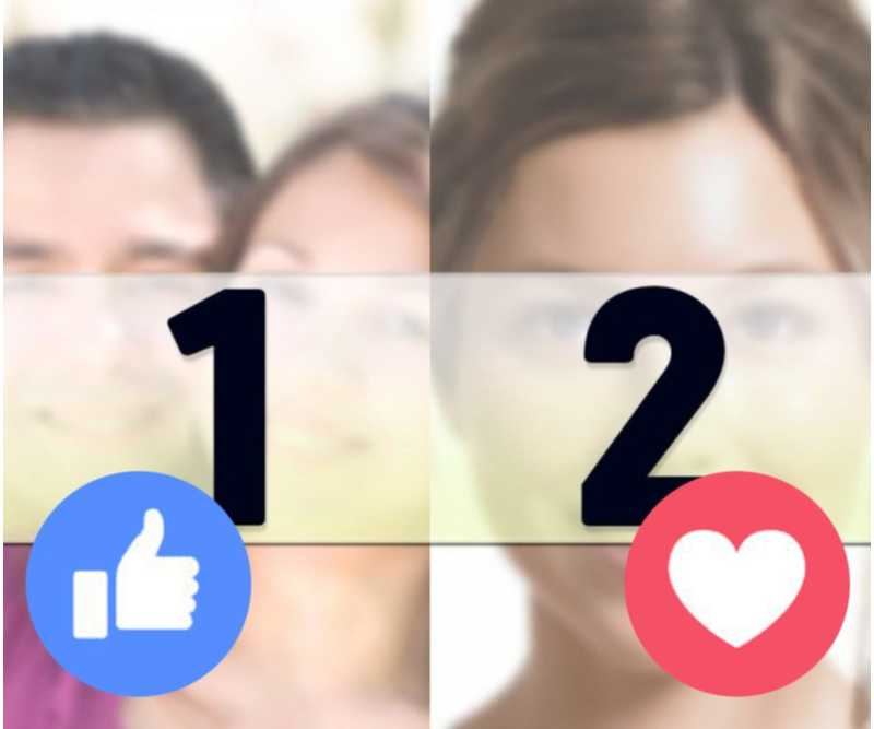 Upload the photo of what you like and what you love to this online effect