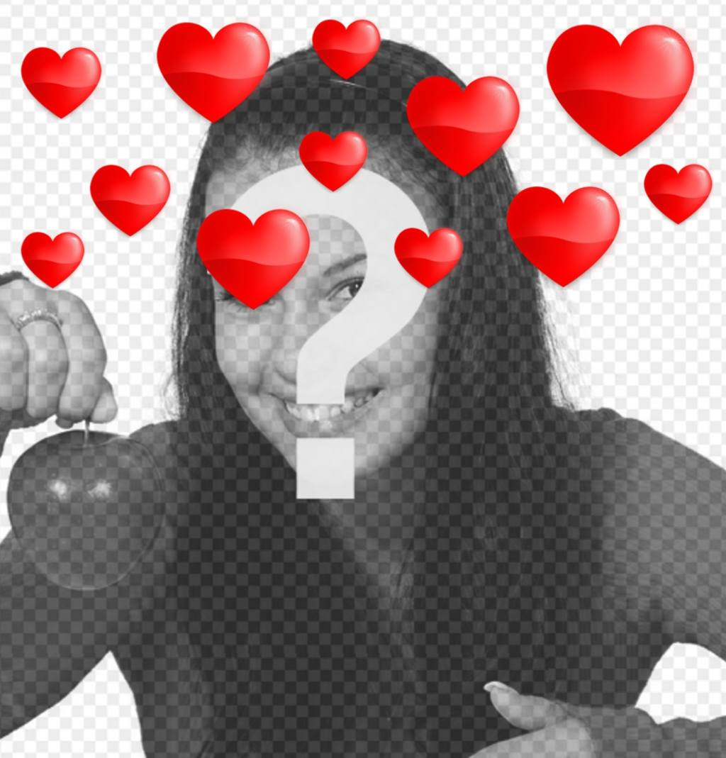 Floating hearts to your photos with this romantic effect