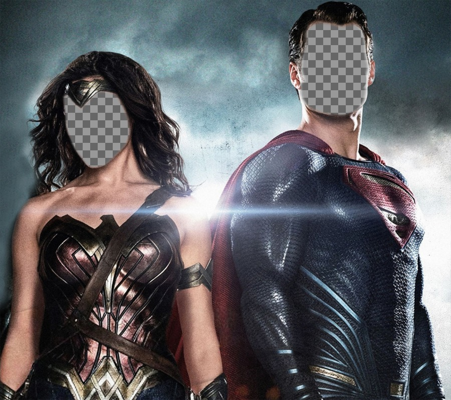 Put your face on Wonder Woman and Superman with this fun effect