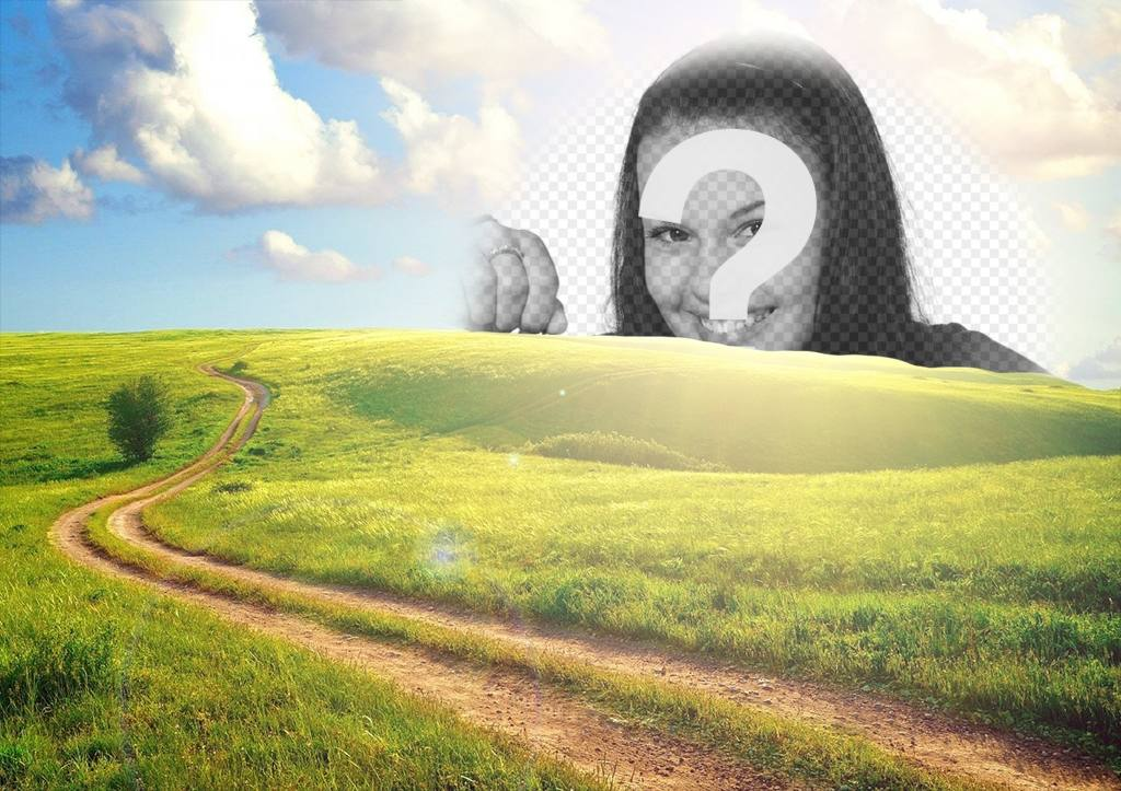 Rural landscape that you can edit to put your photo in the sun and is free
