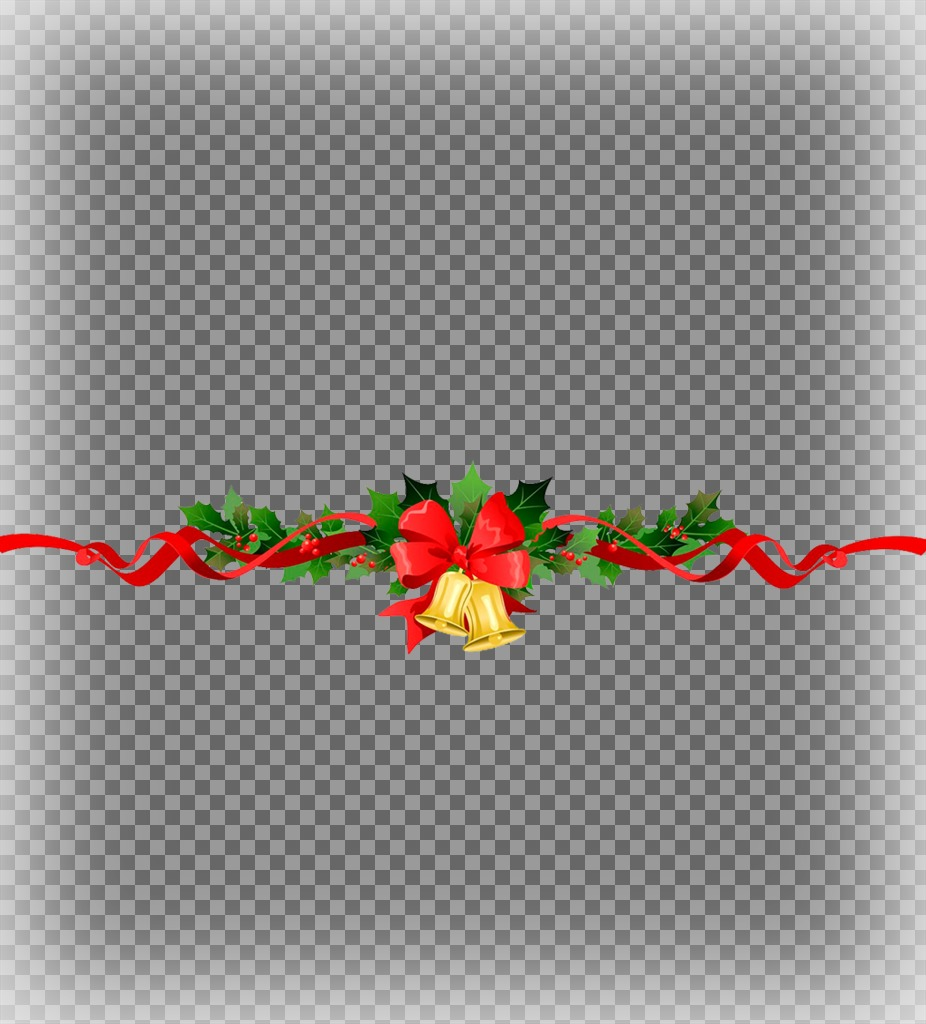 Put two photos together with a decorative Christmas wreath with this effect