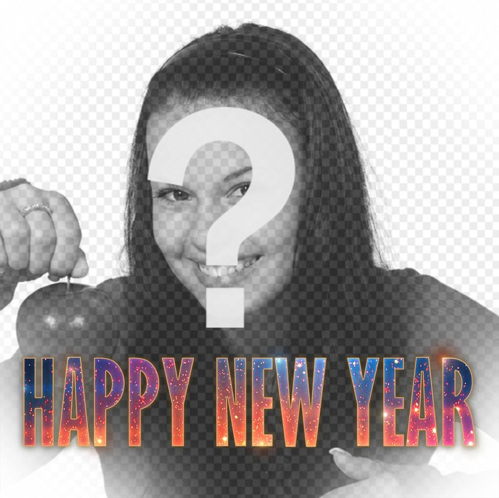 Effect to put HAPPY NEW YEAR text in your photo with a hipster design