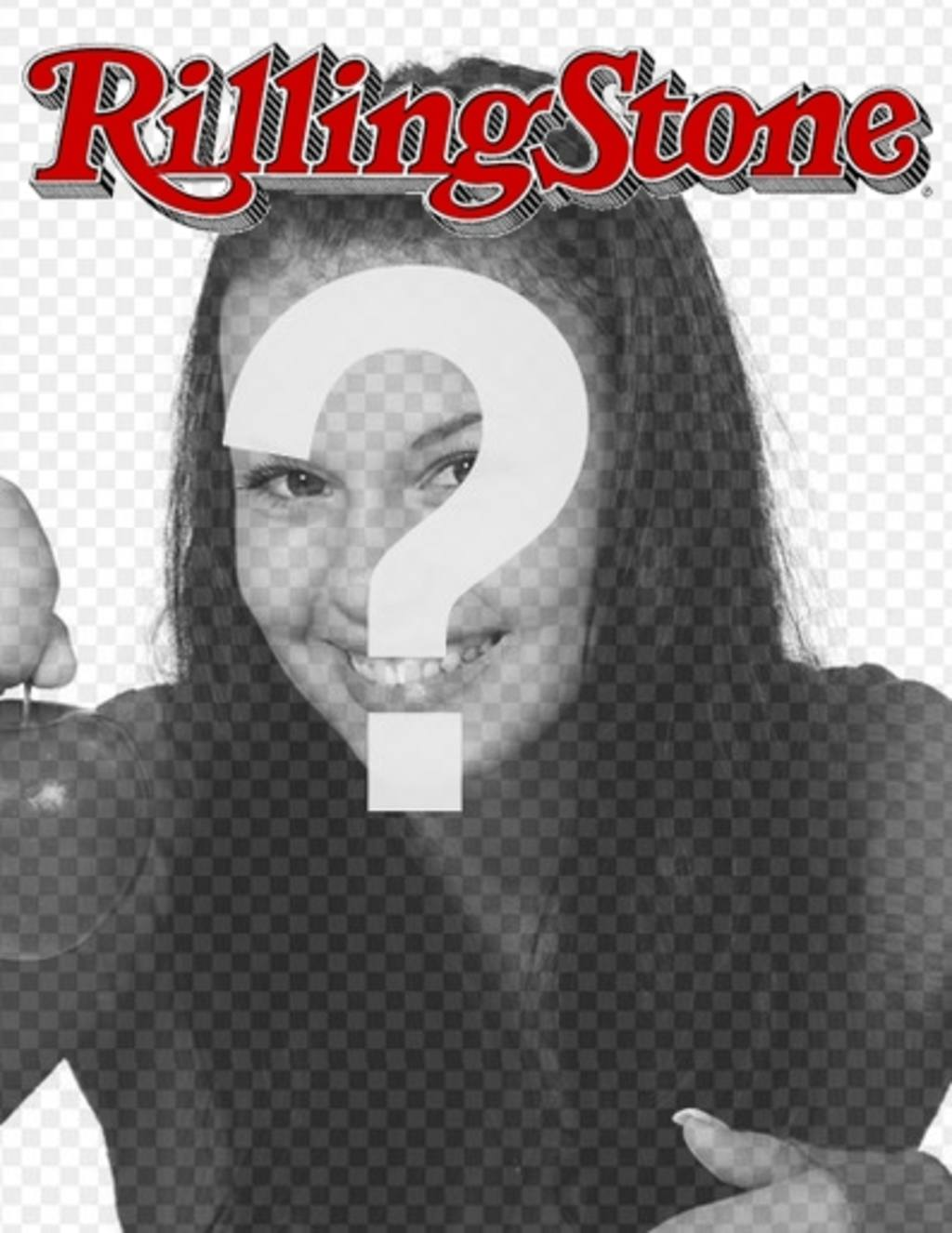 Rolling Stone cover customizable with your photo. Edit the template from the page itself, just upload an image. Salt in a magazine