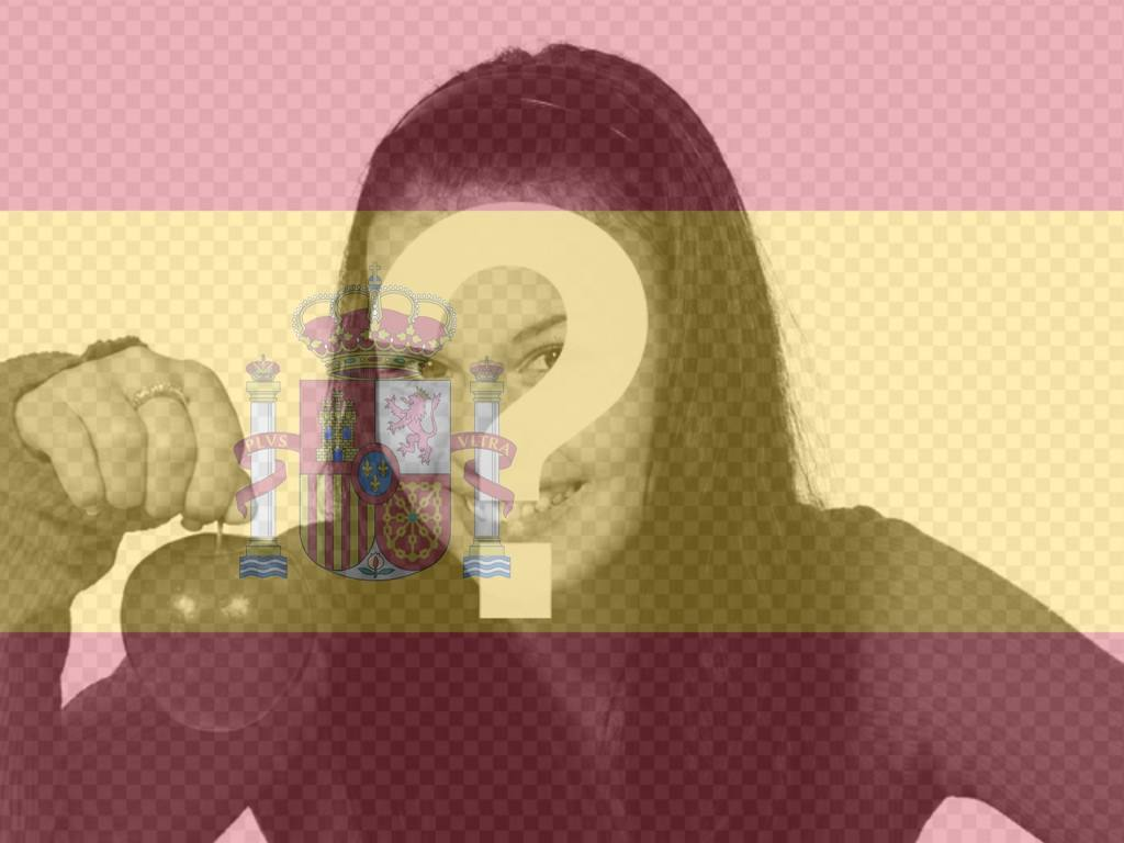Photomontage to put the flag of Spain in your photo that you can use in your profile picture