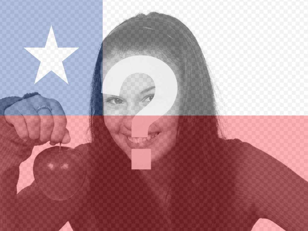 Photomontage to put the flag of Chile in your photo for your facebook or twitter profile