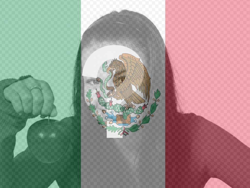 Put your photo along with the flag of Mexico with this photomontage