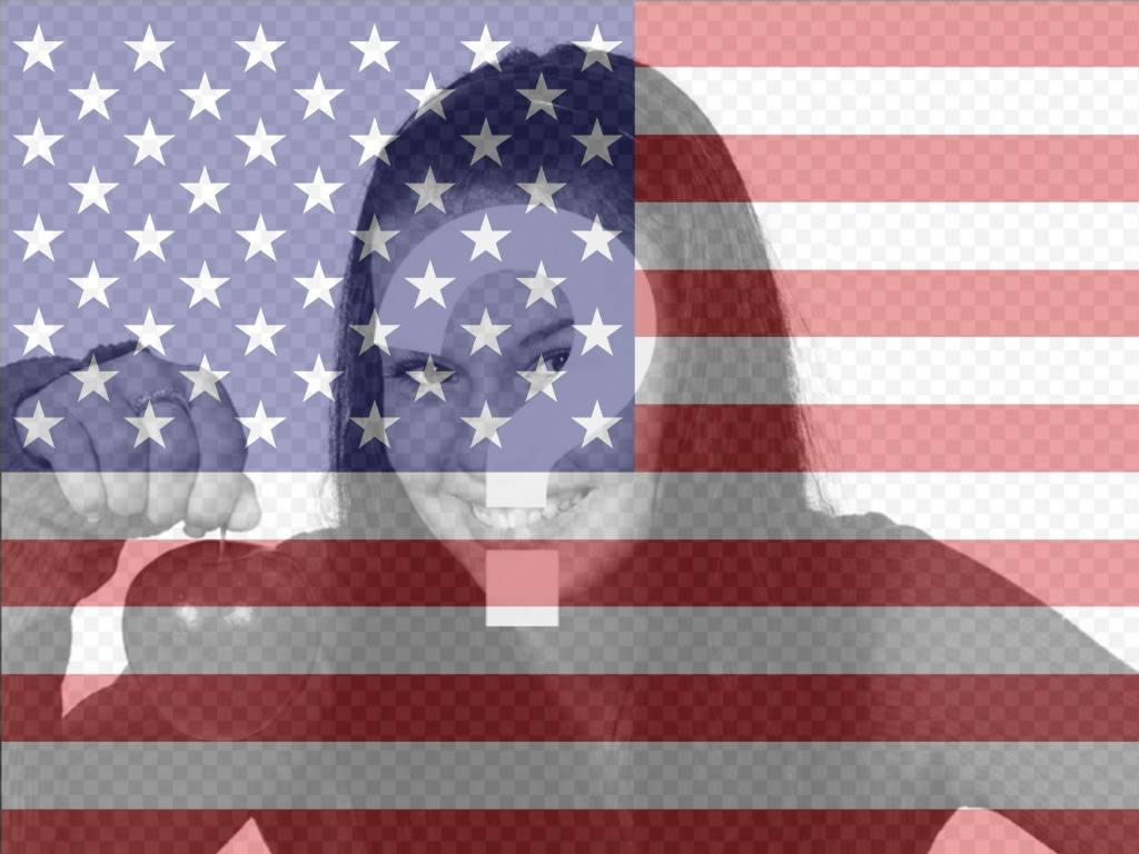 Online filter of US flag to add on your photos