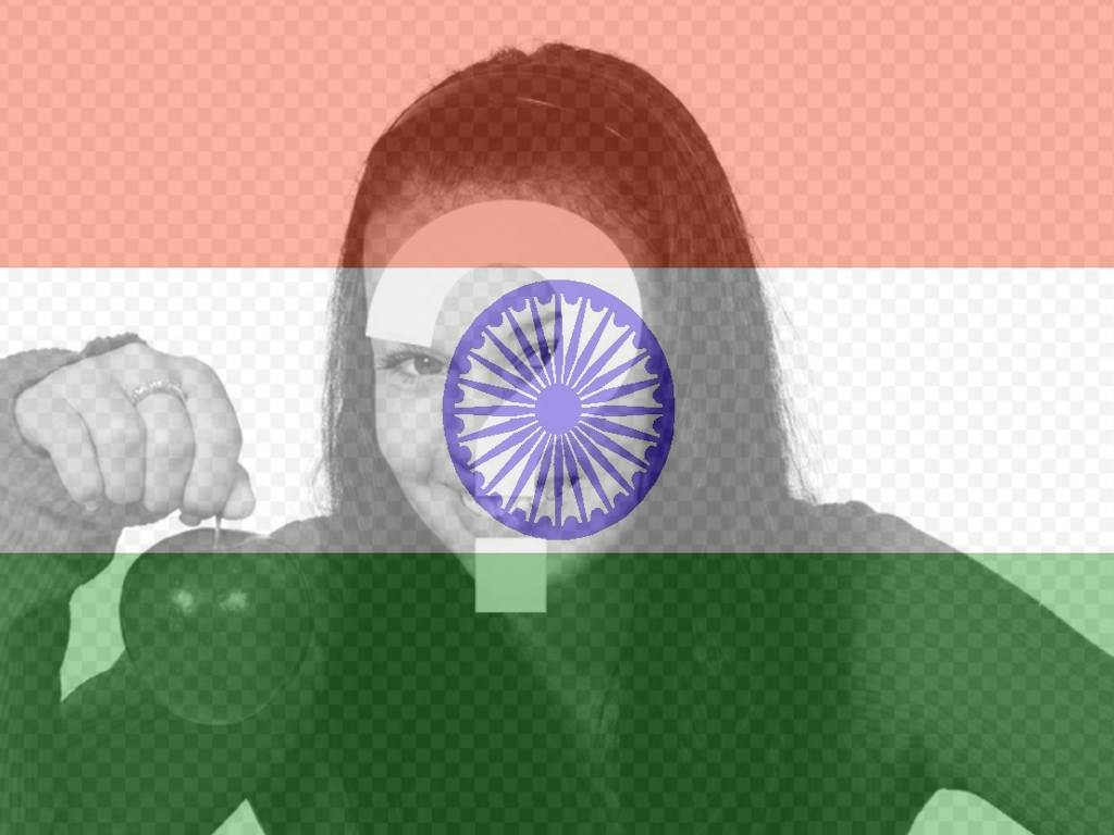 Flag of India to put in your photo as a filter