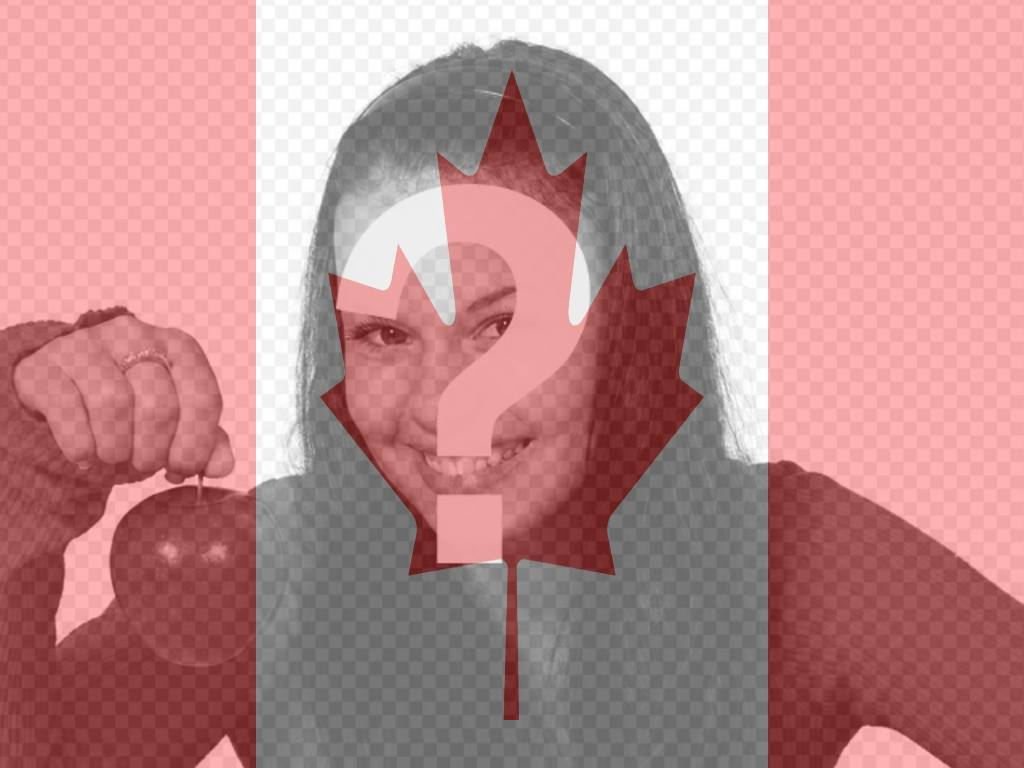 Photo montage to put the Canadian flag on your profile picture