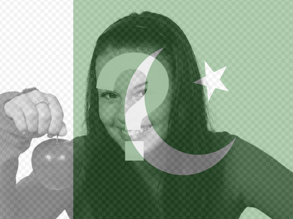 Want to put the flag of Pakistan along with your picture? Now you can do it online