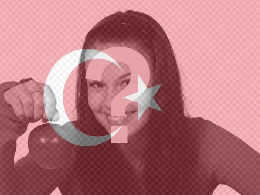 Mount to put the flag of Turkey on your photo to use as profile picture