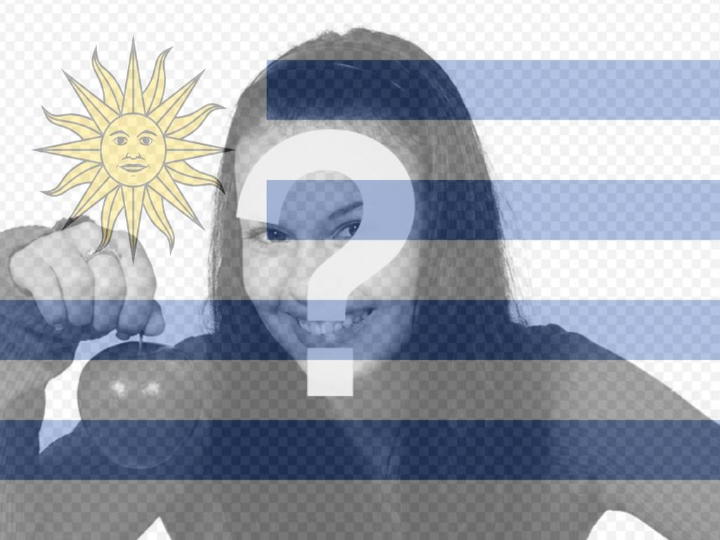 Put the flag of Uruguay with this filter for photos of flag