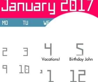 cutomized calendar with your dates