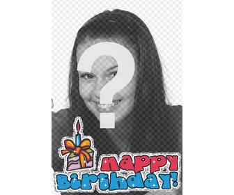 upload ur photo and with this template u can edit ur own personalized greeting card this is birthday card with happy birthday animated text and cake with candles to wish happy anniversary