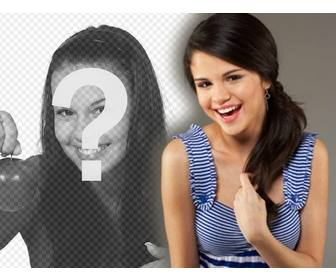 photomontage with celebrities and popular upload ur photo and the singer appears with texas united states selena gomez