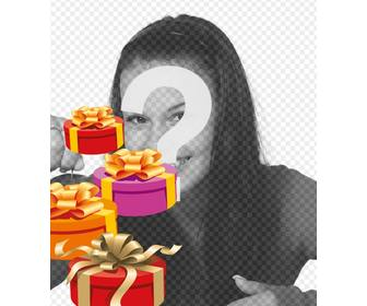 make personalized birthday card with photo or image this photo effect will include at least four gift boxes painted in perspective with gold ties