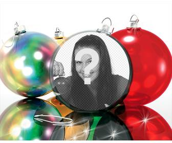 christmas photo effect to put ur picture on christmas ball very funny