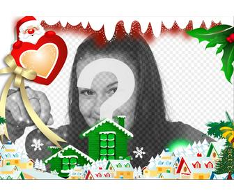 surround ur image with christmas village editing this online effect