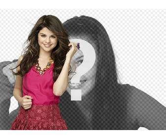 mount pictures to post photo along the famous actress and singer selena gomez