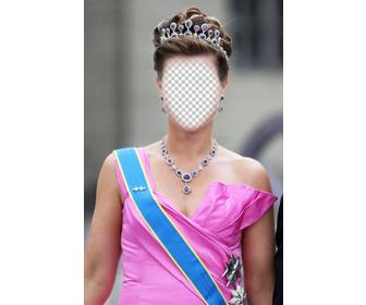 photomontage of princess with crown and dressed in gala to put ur face