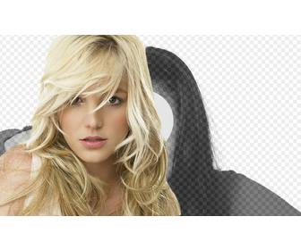 photomontage with britney spears blonde now u can have portrait photo with the american pop singer britney spears