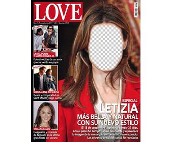 photomontage with magazine cover to put ur face on princess letizia