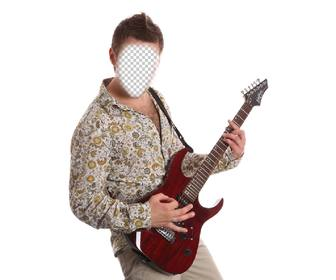 photomontage to be an exotic guitarist with ur photo online