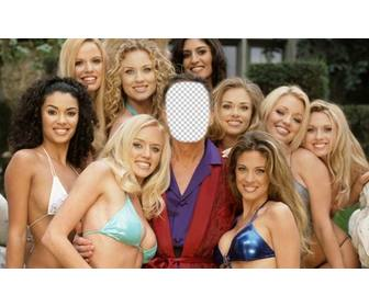 photomontage that u will be hugh surrounded by girls of play boy