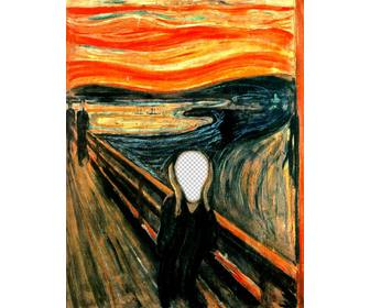 photomontage of the picture the scream by munch to put the photo of ur choice