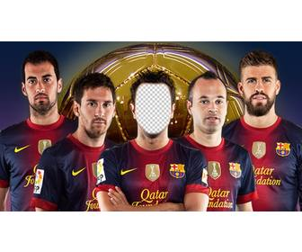 photomontage where u can put ur photo on barcelona soccer player