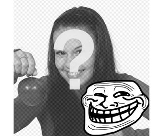 photomontage to put meme troll face with ur photo