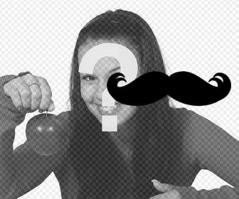 stickerto put on ur hispter photo of mustache