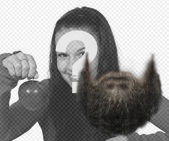 photomontage to put beard on ur photo