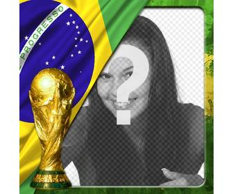 effect for photos with the flag of brazil and the world cup where u can put ur photo at background