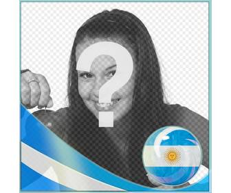 photo frame with flag for argentina for put picture of u