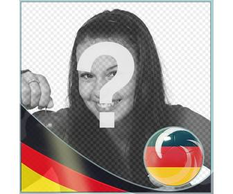 photo frame with the flag of germany to put in ur photos