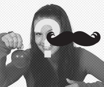 sticker of trendy mustache to paste in ur photographs